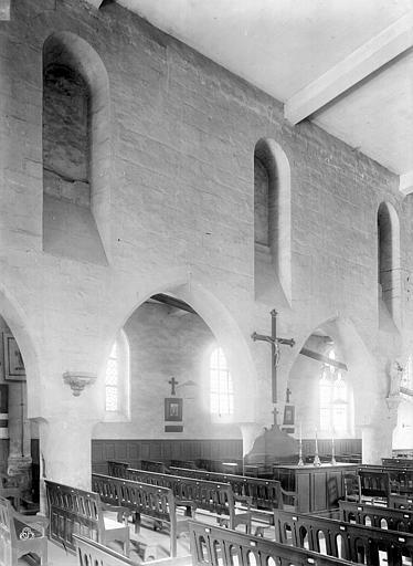 Eglise Vue intérieure de la nef : Grandes arcades, côté nord, Durand, Jean-Eugène (photographe),