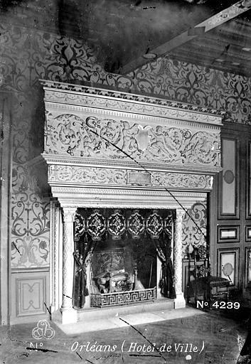 Hôtel Groslot, actuellement Hôtel de Ville Vue intérieure : Cheminée, ,