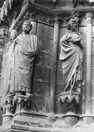 Cathédrale Notre-Dame Portail ouest, saint Joseph, Abiathar, Lajoie, Abel,