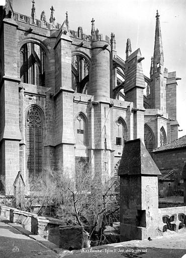 Cathédrale Saint-Just (ancienne) Abside, côté sud, Mieusement, Médéric (photographe),