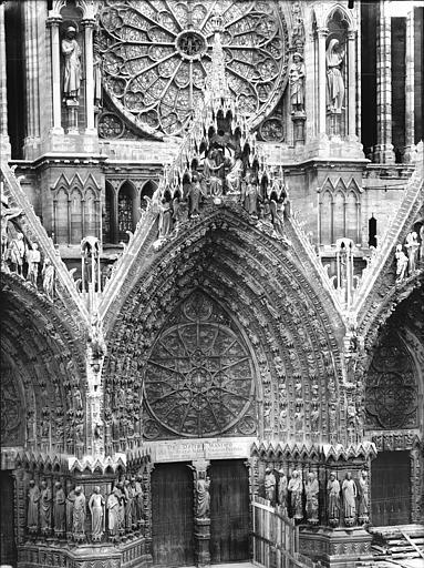 Cathédrale Notre-Dame Portail ouest, porte centrale, Lajoie, Abel,