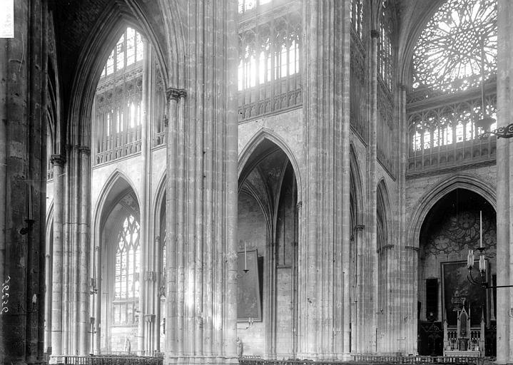 Eglise Saint-Ouen Croisée et nef, Enlart, Camille (historien),