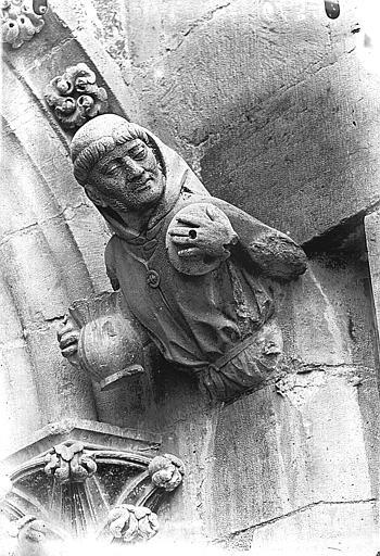 Cathédrale Notre-Dame Figure d'amortissement, le Moine, la Gourmandise, Lajoie, Abel,
