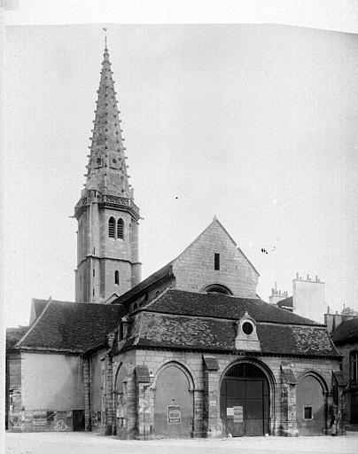 Eglise Saint-Philibert (ancienne) Ensemble ouest, Durand, Eugène (photographe),