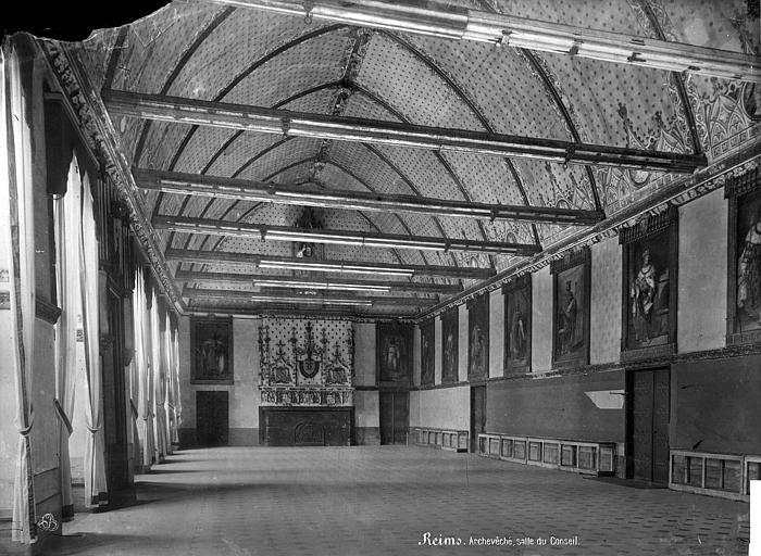Archevêché (ancien) ; Palais du Tau Salle du Conseil : vue d'ensemble, Mieusement, Médéric (photographe),