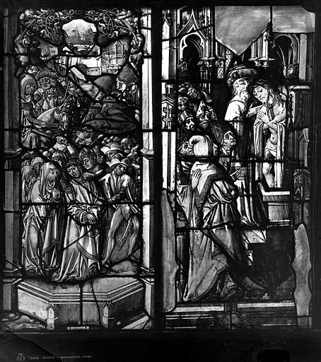 Archevêché Vitrail, Rencontre des saintes femmes, Le Christ présent, Leprévost (photographe),
