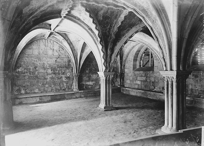 Cathédrale Saint-Martin, actuellement Notre-Dame Salle capitulaire : Vue intérieure, Enlart, Camille (historien),