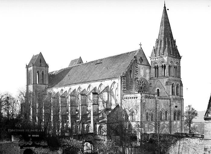 Abbaye Saint-Nicolas (ancienne) Eglise, ensemble nord, Durand, Eugène (photographe),