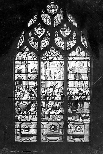 Eglise Saint-Bonnet Vitrail : saint Jean-Baptiste, Leprévost (photographe),