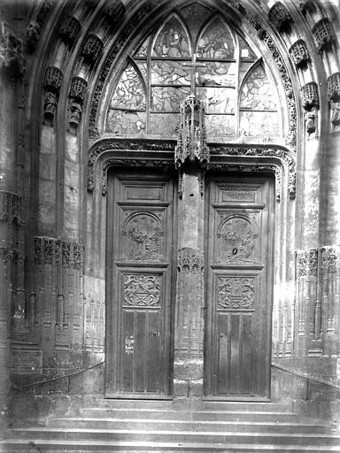 Eglise Saint-Maclou Portail latéral, Enlart, Camille (historien),