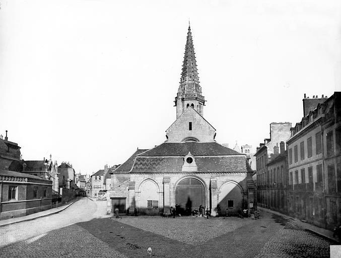 Eglise Saint-Philibert (ancienne) Ensemble ouest, Delaunay (photographe),