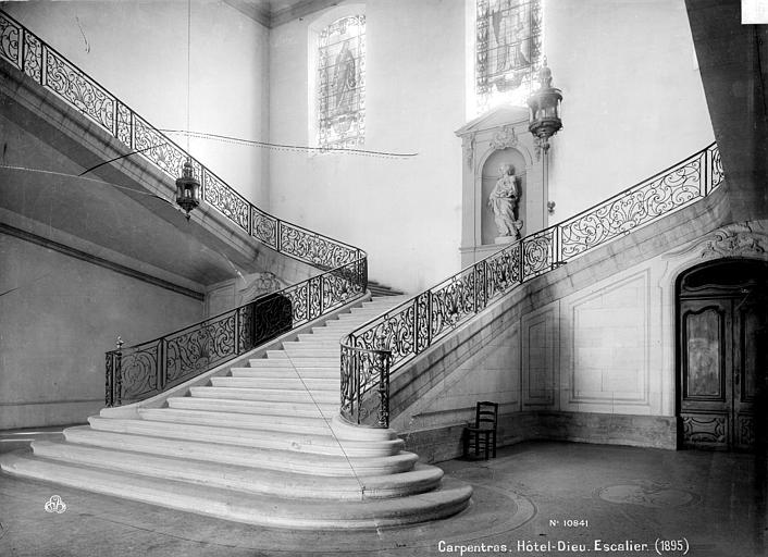 Hôtel-Dieu Escalier, Mieusement, Médéric (photographe),