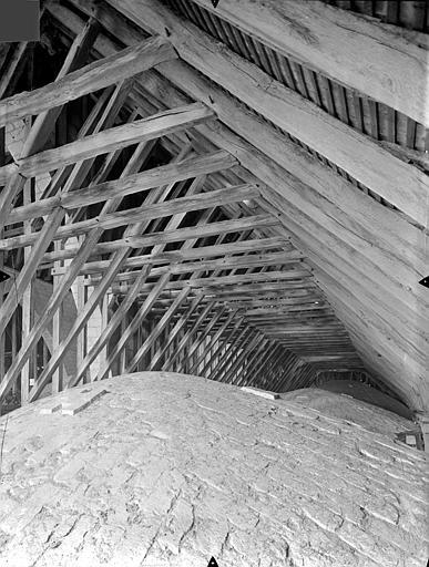 Cathédrale Saint-Pierre Vue intérieure des combles : Voûtes et charpente du bas-côté, Gossin (photographe),