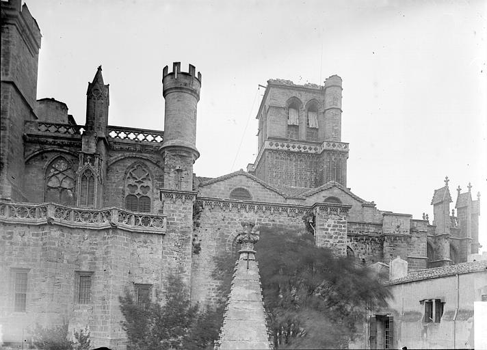 Cathédrale Saint-Nazaire Façade sud: parties hautes, Enlart, Camille (historien),