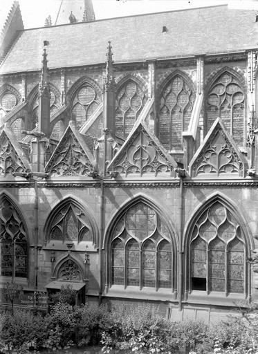 Eglise Saint-Séverin Trois travées, au sud, Durand, Eugène (photographe),