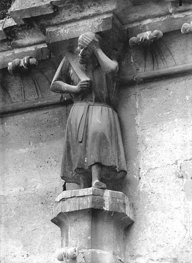 Cathédrale Notre-Dame Cariatide de l'abside, au nord, Lajoie, Abel,