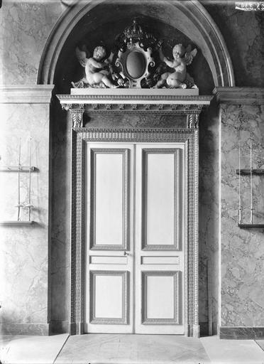 Palais du Luxembourg Porte de la salle d'armes, Durand, Eugène (photographe),