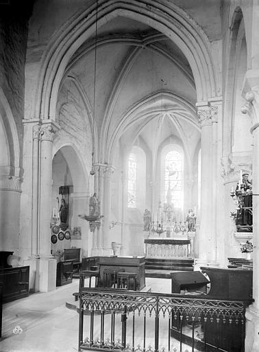 Eglise Saint-Gervais Vue intérieure du choeur, Durand, Jean-Eugène (photographe),