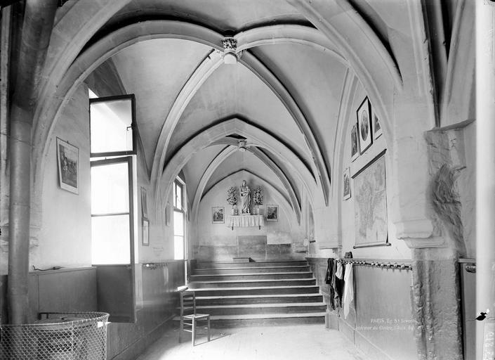 Eglise Saint-Séverin Cloître, intérieur, avant restauration, Durand, Eugène (photographe),