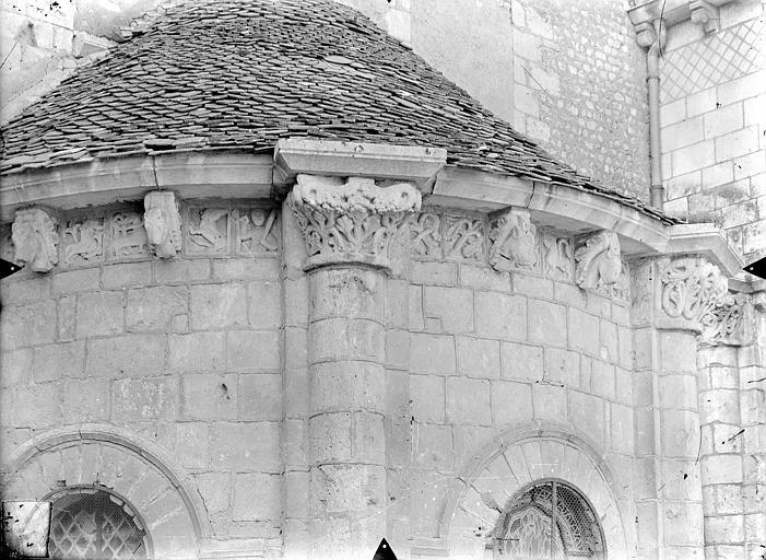 Eglise Saint-Hilaire-le-Grand Absidiole du transept sud : Frise sculptée, Gossin (photographe),