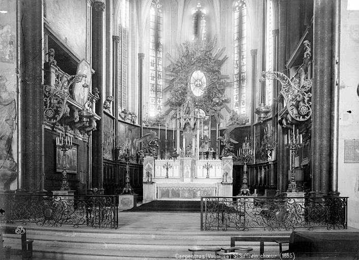 Eglise Saint-Siffrein Nef, vue du choeur, Mieusement, Médéric (photographe),