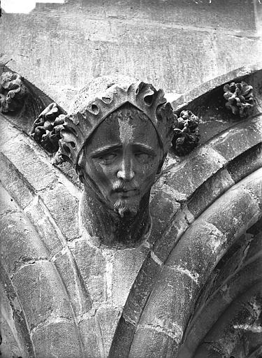 Cathédrale Notre-Dame Cariatide, tête, l'Architecte  (supposé), Lajoie, Abel,