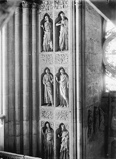 Cathédrale Notre-Dame Portail ouest, revers, statues et niches, Lajoie, Abel,