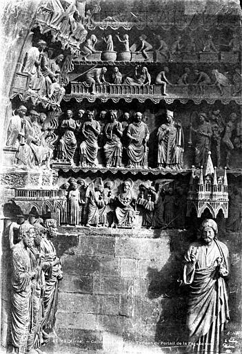 Cathédrale Notre-Dame Portail du Jugement dernier au transept nord : tympan, Le Secq, Henri (photographe),