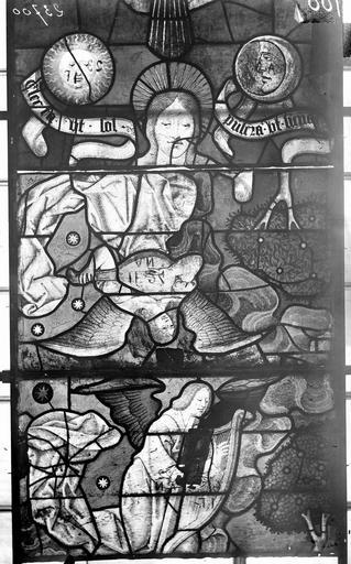 Eglise Vitraux, panneaux 8, 19, 32 de la baie F, Nadeau, H. (photographe),