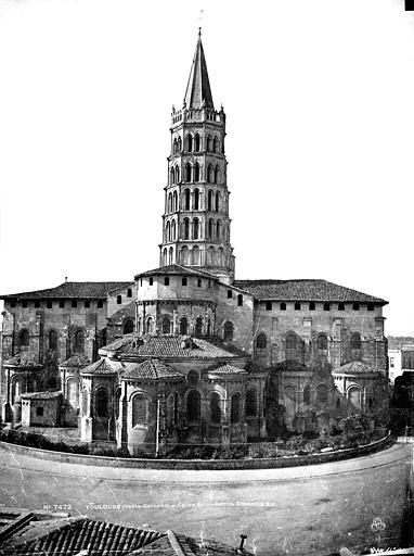 Eglise Saint-Sernin Ensemble est, Le Gray, Gustave ; Mestral, Auguste (photographe),