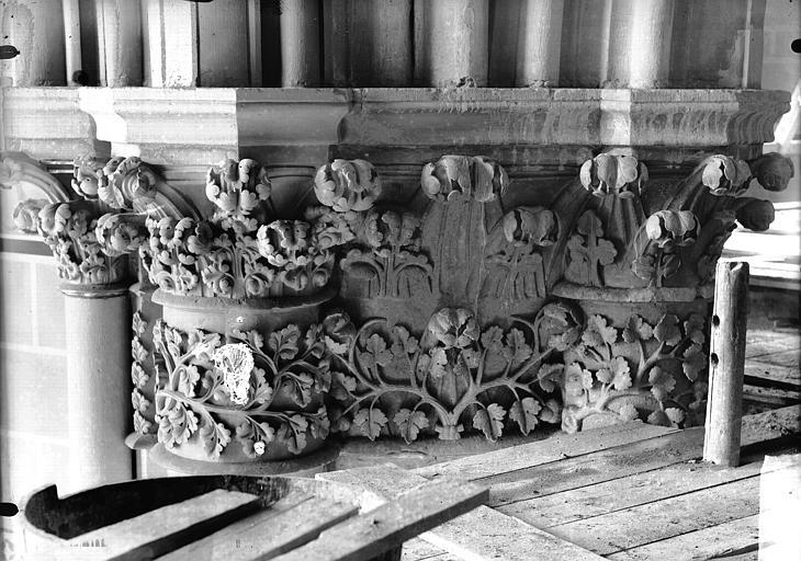 Cathédrale Notre-Dame Chapiteau du deuxième pilier de la chapelle absidiale, à droite, Lajoie, Abel,