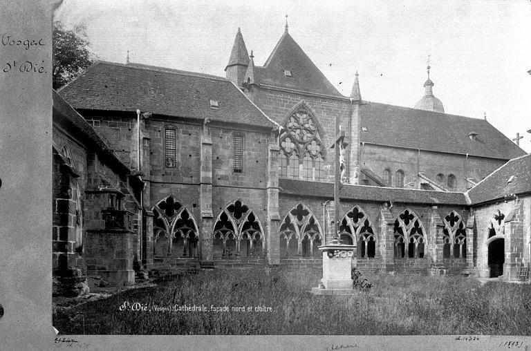Cathédrale Saint-Dié Façade nord et cloître, Mieusement, Médéric (photographe),