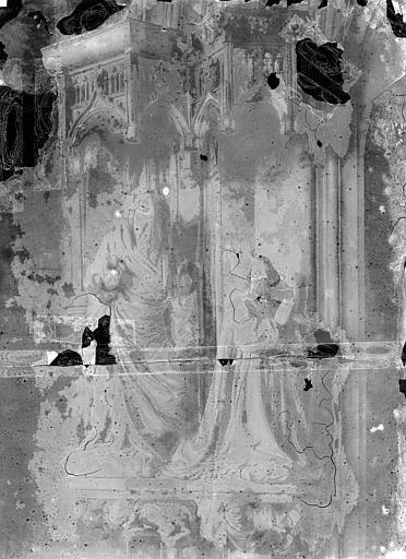 Chartreuse de Champmol (ancienne) Portail de la chapelle : Statues du piédroit gauche, Durand, Jean-Eugène (photographe),