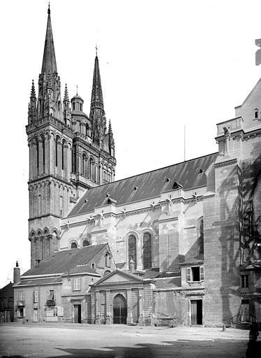 Cathédrale Saint-Maurice Façade sud : partie ouest et clocher, Mieusement, Médéric (photographe),