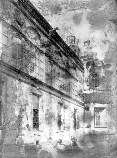 Château Galerie Henri II, façade sur jardin, Enlart, Camille (historien),