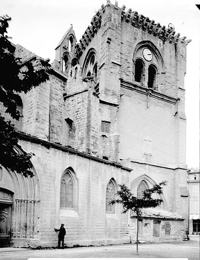 Eglise Notre-Dame Tour-clocher, côté sud, Enlart, Camille (historien),