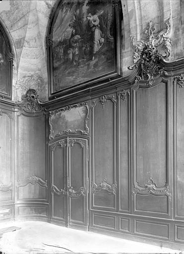 Abbaye aux Hommes (ancienne) Grand réfectoire : Boiseries, Durand, Jean-Eugène (photographe),