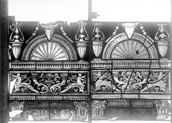 Eglise Saint-Godard Vitrail baie 18, Arbre de Jessé, onzième panneau, en haut, Heuzé, Henri (photographe),