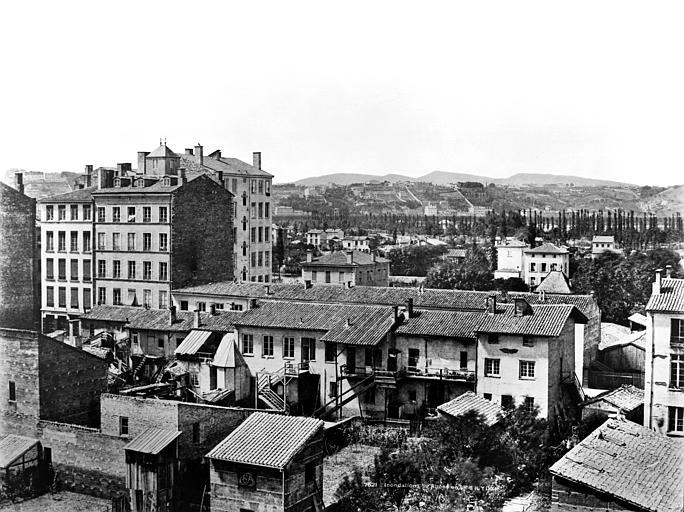 Vue des quartiers des Brotteaux, Baldus, Edouard (photographe),