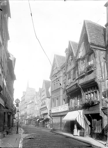 Maisons Vue générale de la rue Saint-Pierre, Durand, Jean-Eugène (photographe),