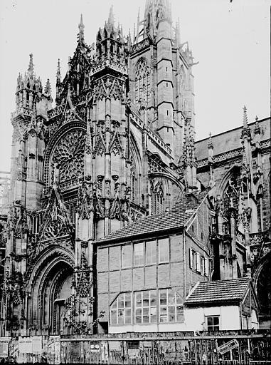 Cathédrale Notre-Dame Transept à l'extérieur, Enlart, Camille (historien),