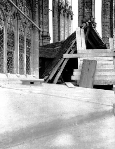 Cathédrale Galerie : réparations, Chaine, Henri (architecte),