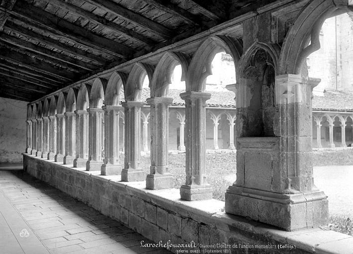 Couvent des Carmes (ancien) Cloître : vue intérieure de la galerie ouest, Mieusement, Médéric (photographe),