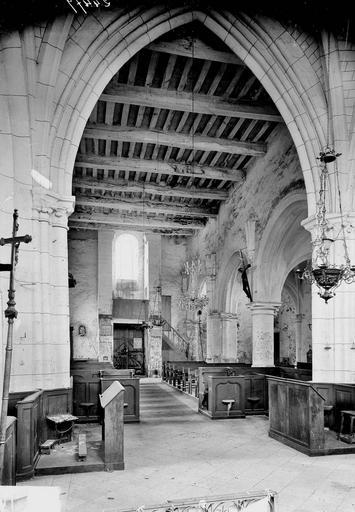 Eglise Nef, vue du choeur, Service photographique,