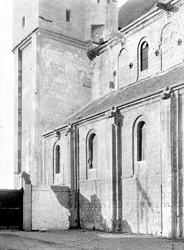 Eglise Saint-Nicolas (ancienne) Façade sud : Partie ouest, Durand, Jean-Eugène (photographe),
