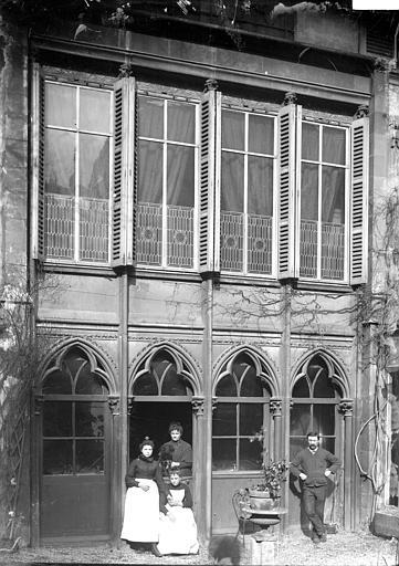 Maison Façade, arc trilobé, Enlart, Camille (historien),