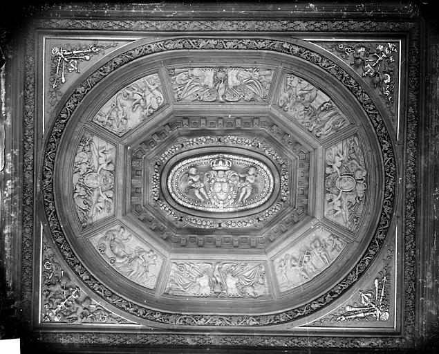 Palais de Justice Salle des Assises : Plafond, Delaunay (photographe),
