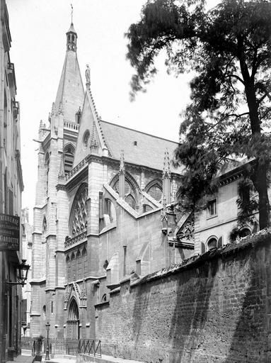 Eglise Saint-Séverin Ensemble ouest, en perspective, Durand, Eugène (photographe),
