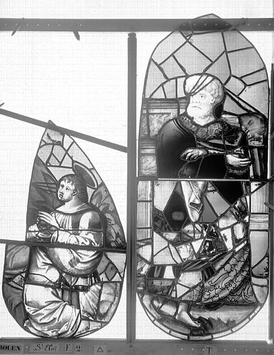Eglise Saint-Eloi (ancienne) Vitrail, fenêtre 2, tympan de droite, Heuzé, Henri (photographe),