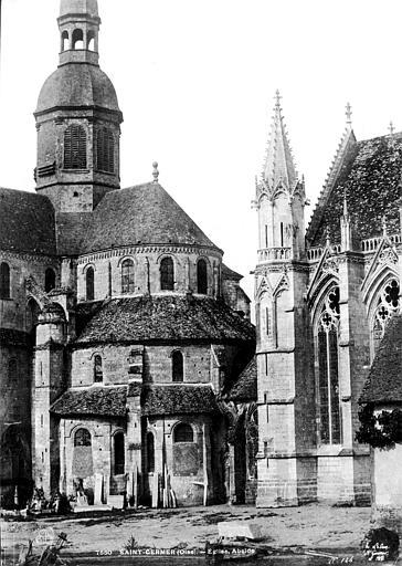Eglise abbatiale Abside de l'église et Sainte-Chapelle, vues du sud-est, Le Secq, Henri (photographe),